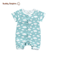 Baby Rompers 2017 Summer Baby Clothes 0-1Y Boys And Girls Rompers Newborn Baby Pure Cotton Short Sleeve Clothing Jumpsuits.