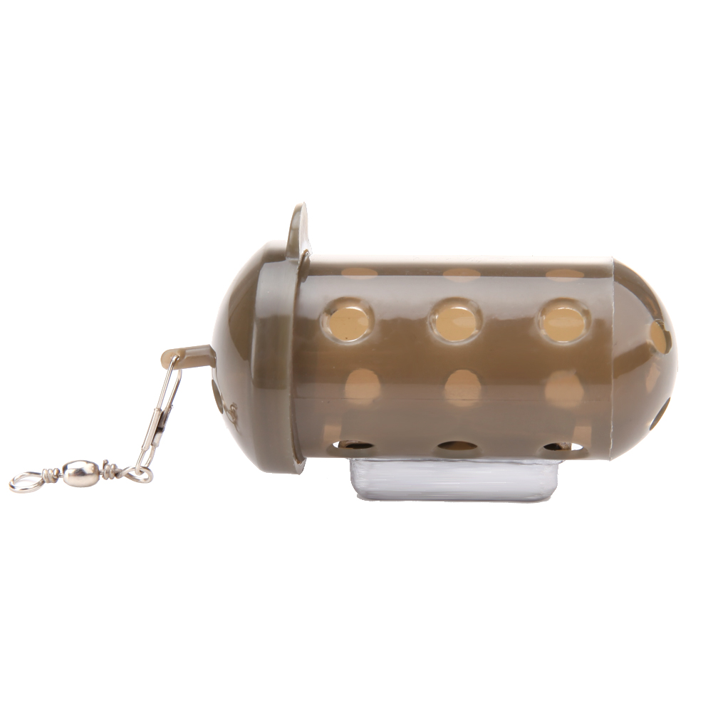 Fishing Bait Cage Feeder Block End Fishing Lure Cage Fish Bait Lure Holder Fishing Tackle with Lead weight forward hook bait carp fishing tackle feeder bait cage lure pit device with lead pellet fishing lure pellet feeder
