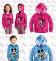 2014 primavera-otoño del cabrito deporte ropa Para Niños Camisas y sudaderas para niños de dibujos animados mickey minnie abrigos freeshipping
