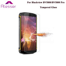 Alesser For Blackview BV5800 Pro Tempered Glass Premium Film Scratch-proof Protective 9H Shatter Proof For Blackview BV5800(China)