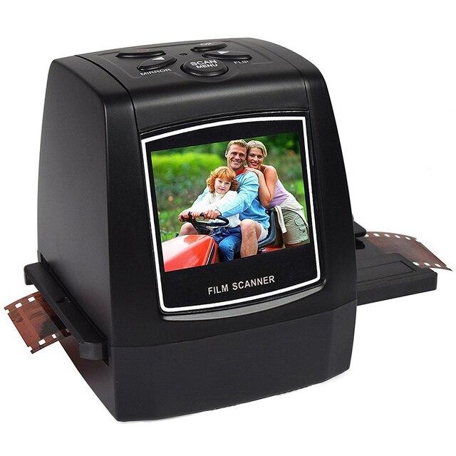 """מיני 5MP 35mm שלילי סרט סורק שלילי שקופיות תמונה סרט ממיר USB כבל LCD Slide 2.4 """"TFT עבור תמונה"""