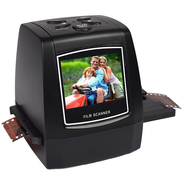 "MINI 5MP 35mm Negative Film Scanner Negative Slide Photo film Converts USB Cable LCD Slide 2.4"" TFT for Picture"