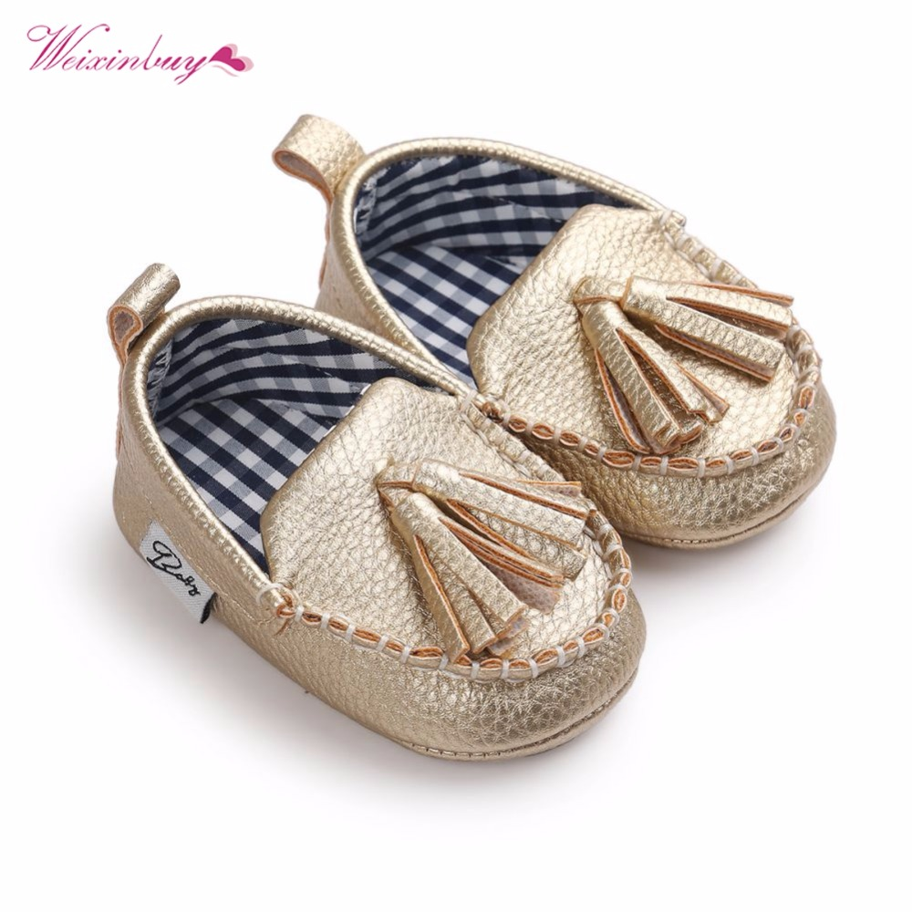 Moccasin First Walkers Toddler Prewalker Shoes Baby Boy Girl Pu Tassel pendant Leather Shoes