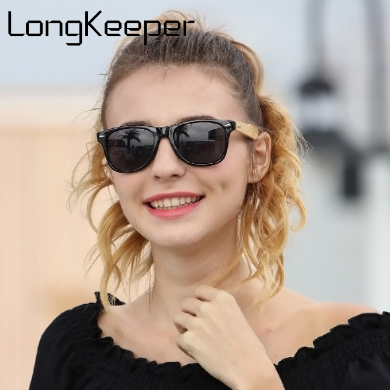 LongKeeper Bambus stopala sunčane naočale Muškarci Žene Drvene sunčane naočale Brand dizajner Izvorni Wood Sunčane naočale Tvornica veleprodajna cijena