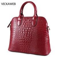 Crocodile Pattern Women Handbag Genuine Leather Tote Bag Luxury Brand Ladies Shoulder Or Crossbody Bags