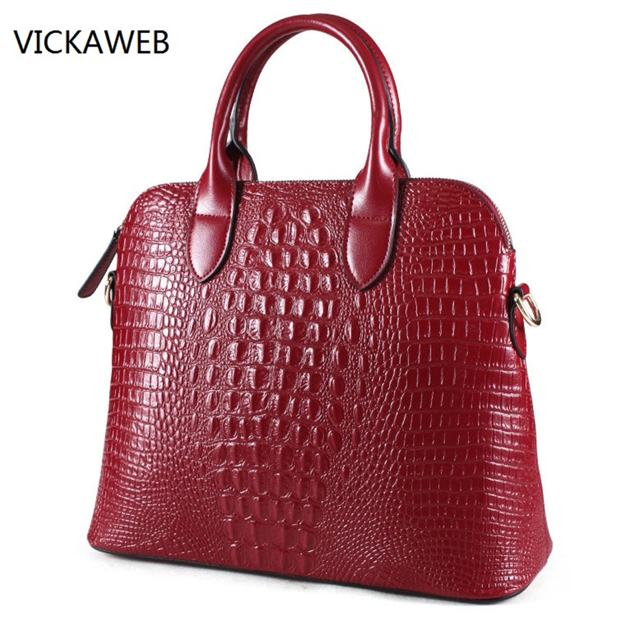 crocodile pattern women handbag genuine leather tote bag luxury brand ladies shoulder or crossbody bags yuanyu new 2017 new hot free shipping crocodile women handbag single shoulder bag thailand crocodile leather bag shell package