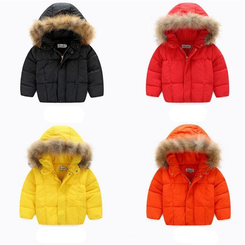 2016 Yeni Kış Kız Pamuk Aşağı Katı Kapüşonlu Çocuklar Bebek Parkas Spor Stil Kar Giyim Kore Kabanlar Coat Çocuk Giyim