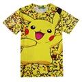 3D Pokemon Pikachu T Shirt For Men Women T-shirts Fashion Summer Casual Tees Tops Anime Cartoon Clothing Cute Costume Drop Ship