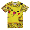 Pokemon Pikachu 3D T Shirt Para Mulheres Dos Homens T-shirts Moda verão Tees Casual Tops Anime Roupas Bonito Dos Desenhos Animados Da Gota Traje navio