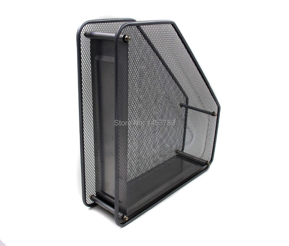 Mesh Desk Organizer Office Paper Holder Supplies With Upright Sections 1 In File Tray From School On Aliexpress