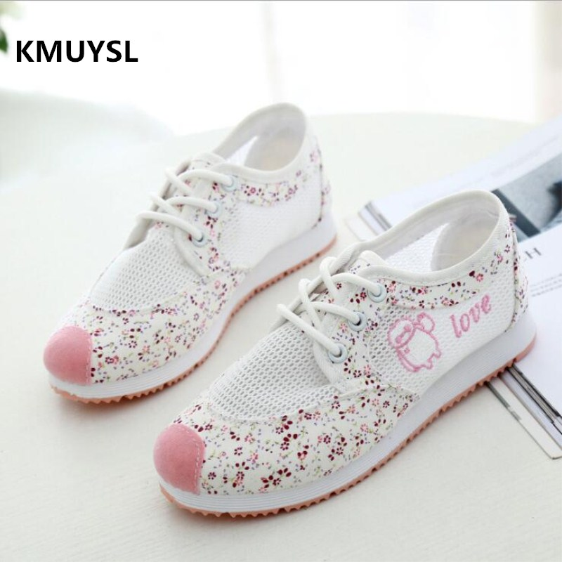 Women Breathable Mesh Zapatillas Shoes Women Cute Style Hollow-out Sneakers Students Antislip Breathable Casual Shoes Wild Flats free shipping candy color women garden shoes breathable women beach shoes hsa21