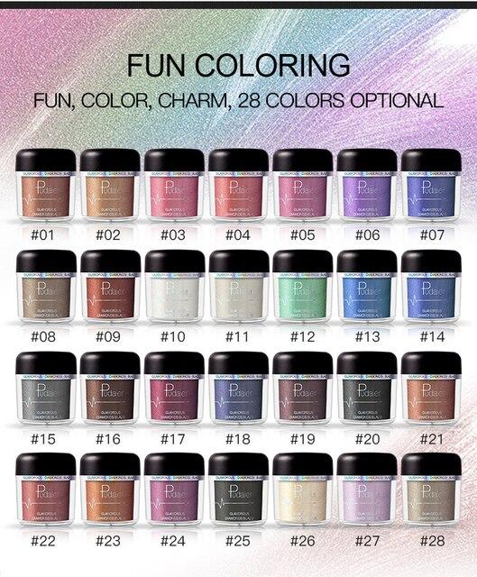 Glitter Eyeshadow Powder Pigments Eye Shadow Easy to Wear Waterproof Shimmer Cosmetics Powder Make Up Single Metallic Color 2018 5