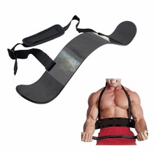 Kebugaran Arm Blaster Adjustable Aluminium Bodybuilding Bicep Blaster Bomber Weight Lifting Straps Muscle Training Gym Equipment