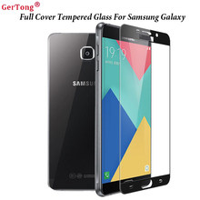 GerTong Full Cover Premium Tempered Glass For Samsung Galaxy J7 J5 J3 A7 A5 A3 2016 2017 Prime S5 S6 Note4 Screen Protector Film(China)