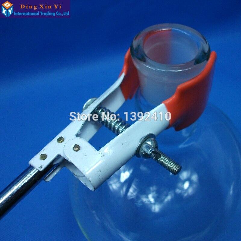 Uzun saplı Flask Kelepçe 250mm Laboratuvar metal Tutucu Laboratuvar Stan Kondenser Evrensel Kaplama işlemi flask Klip