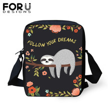 FORUDESIGNS Fashion Kids School Bags Cute Animal Sloth Floral Prints Children Small Kindergarten for Teen Girls Boys