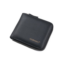Brand New Zipper Men Wallets Leather Purse Wallets For Men Cards Holder Gift Coin Money Bag Male Clutch Small Purse Wallets Men