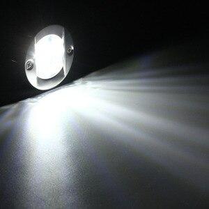Image 5 - 12 V LED Marine Boot Yacht Licht Heck Edelstahl Anker Heck Licht Wasserdichte Weiße, Runde Boot Rücklicht