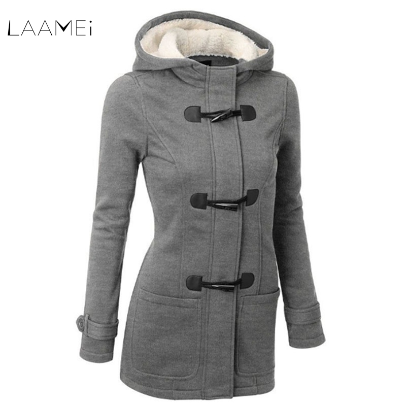 Women Causal Coat 2018 New Spring Autumn Women Overcoat Hooded Coat Zipper  Button Outwear Jacket Casaco Feminino Plus Sizes