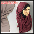 J 1 de Oro bola de gasa hijab, bufanda de la señora, chal 180*90 cm, 10 unids 1 lote, puede elegir los colores
