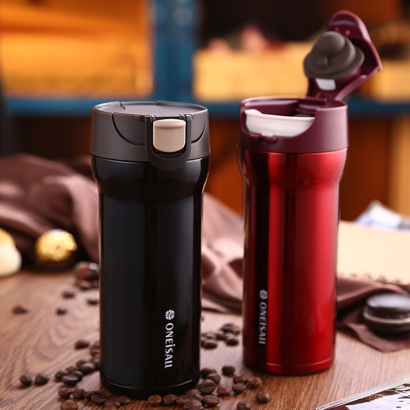 Thermos Keep Mug Coffee Cup Stainless Steel Milk Tea Mug vacuum flask Anti Dust Coffee Cups