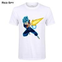 RED SPY New dragon ball t shirt 100% Cotton T-shirt short sleeves tee shirt Super Saiyan print t shirt men Tops Tees Men
