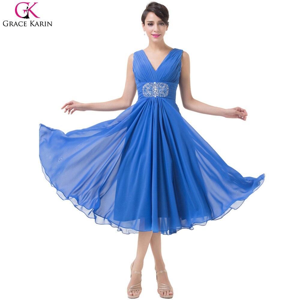 Grace karin kurze abendkleider blau mutter der braut kleider frauen ...