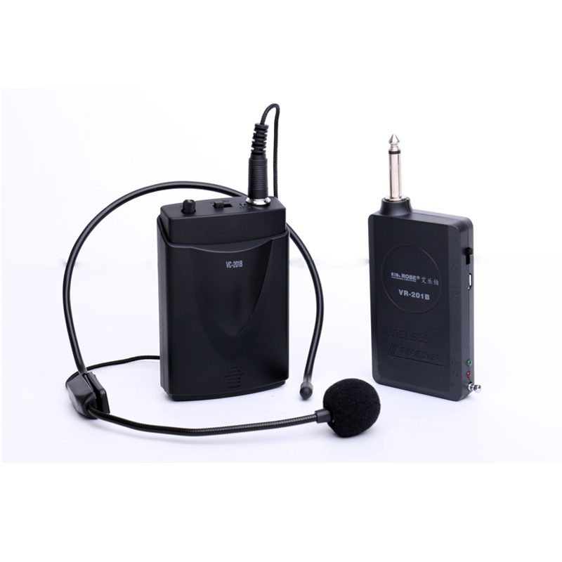 EAROBE VC 201B Mini Tie Clip on or Head on Mic Microphone Wireless Receiver and Transmiter