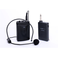 EAROBE VC 201B Mini Tie Clip on or Head on Mic Microphone Wireless Receiver and Transmiter wireless collar microphone