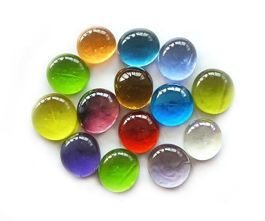 80 Pcs Colored Decorative Glass Marbles Pebble Stone