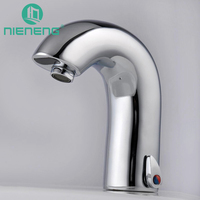 NIENENG infrared sensor faucet automatic faucets basin mixer bathroom sink mixer water brass taps home appliances ICD60251