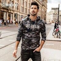 SIMWOOD Hoodies Männer 2018 Mit Kapuze Sweatshirt Brief Kängurutasche Camouflage Pullover Slim Fit Trainingsanzug Plus Größe WT017031