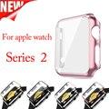 Cubierta de protección de plástico para apple watch s 2 con protector de la pantalla de dos en uno para iwatch serie 2