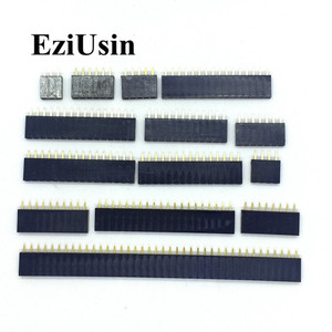 2.54mm Single Row Female 2~40P PCB socket Board Pin Header Connector Strip Pinheader 2/3/4/6/10/12/14/16/20/40Pin For Arduino