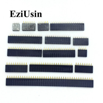 2 54mm jeden rząd kobieta 2 ~ 40P płytka PCB do złącz stykowych Pinheader 2 3 4 6 10 12 14 16 20 40Pin dla Arduino tanie i dobre opinie pinheader socket EZIUSIN