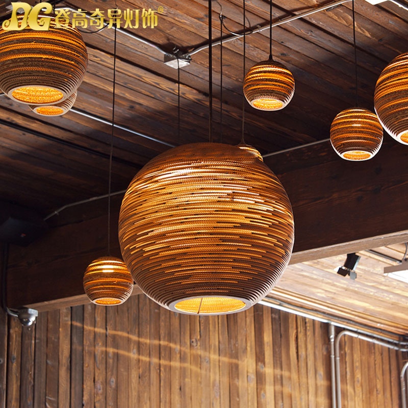 European Country Contracted Popula Creative Modern Paper Art Pendant Light Bar Light Coffee Shop Decoration Light Free Shipping