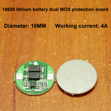 18650 lithium battery protection board 18650 electric over-discharge universal dual MOS protection board 4A current battery anti over discharge controller with time delay over protection board low voltage off load and alarm
