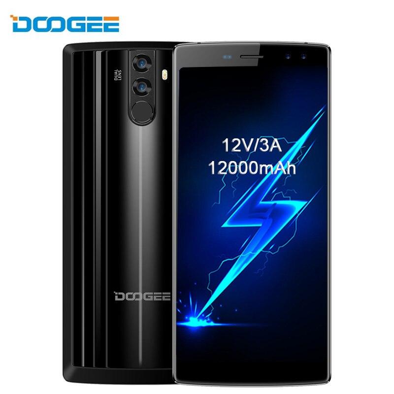 DOOGEE BL12000 Smartphone 6.0''18:9 FHD+4GB RAM 32GB ROM Android 7.1 12000mAh Quad Camera MTK6750T Octa Core 16.0+13.0MP Phone