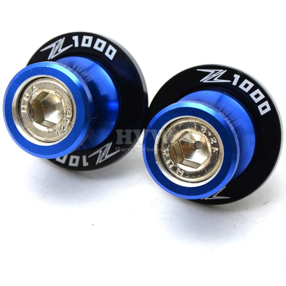 Accesorios de color azul de la motocicleta cnc basculante sliders carretes desli