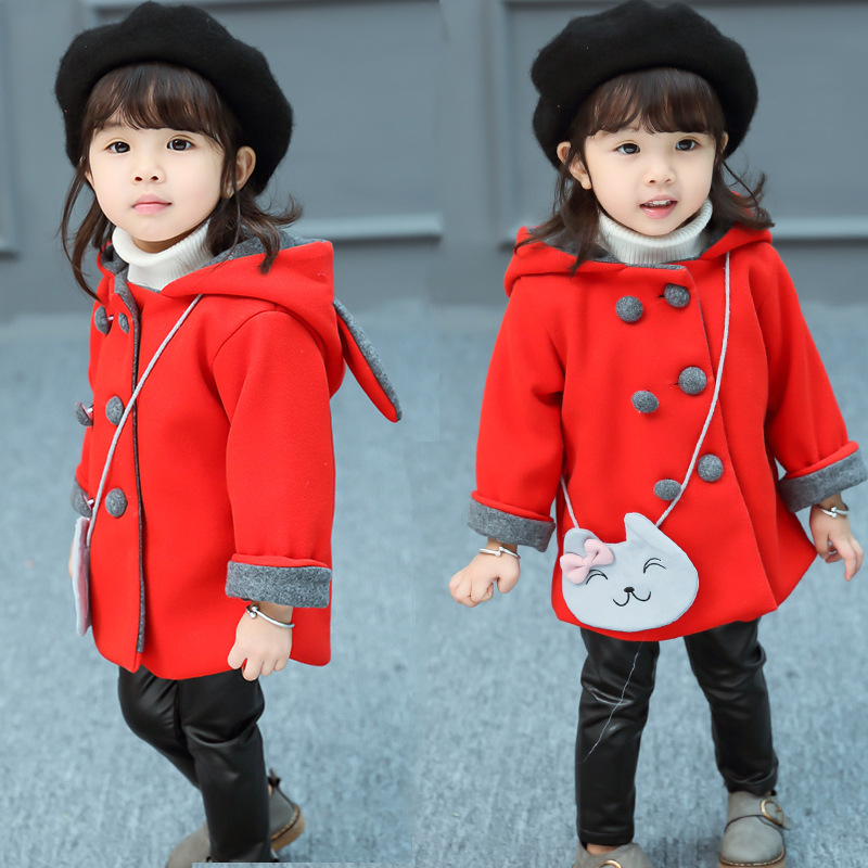 1-5T Casual Children Clothes Winter Girls Coat Kids Infantil New Girls Jackets Casaco Hooded Baby Clothing Outerwear цена