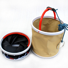 Vissen Folding Bucket Thick Canvas Folding Bucket, Barrels Of Fish, Bait Buckets, Car Wash Bucket Fishing Tackle Tools