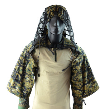 Camouflage Sniper Hunting Clothes Tactical Army Training Shooting CS Wargame Ghillie Suit Outdoor  DIY Ghillie Jacket With Yarn 1