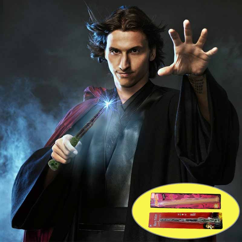 Halloween Props Plastic Magic Wand Harry Potter Magic Wand Fairy Stick Toys For Children Cosplay Accessories Gift Box Packing
