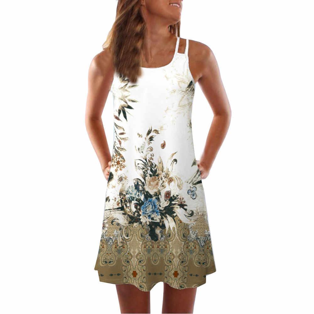 女性ドレス夏ヴィンテージ Vestido 3D 花柄 sukienki Bohe タンクショートミニドレスノースリーブローブフェムセクシービーチ vestidos