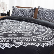 GIANTEX 3 Pcs Bohemian Style Elephant Print Bedding Set Pillowcase Duvet Cover Set Queen Size Home Textile 40