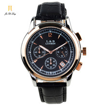 Brand New Classic Fashion Quartz Watch Men 3 Sub Dial Business Sport Watch Genuine Leather Strap