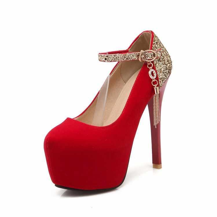 2017 Zapatos Mujer Tacon Nữ Phong Cách Giày Phụ Nữ Phụ Nữ Zapatos De Mujer Cao Gót Sapato Feminino Chaussure Femme Bơm B-
