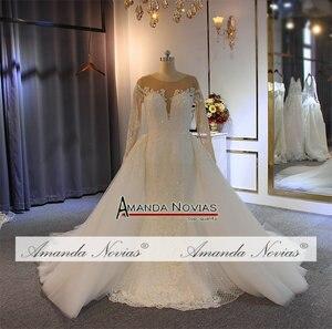 Image 3 - Robe de soiree 2019 del merletto della sirena abito da sposa con staccabile pannello esterno