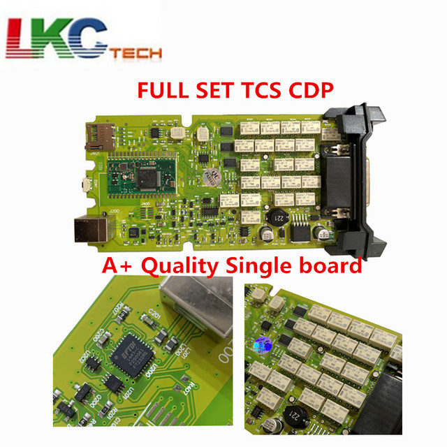 New Price Origin Green Single Board TCS CDP PRO PLUS  +Generic 3 in 1 New NEC Relays  Newest Diagnostic tool Scanner