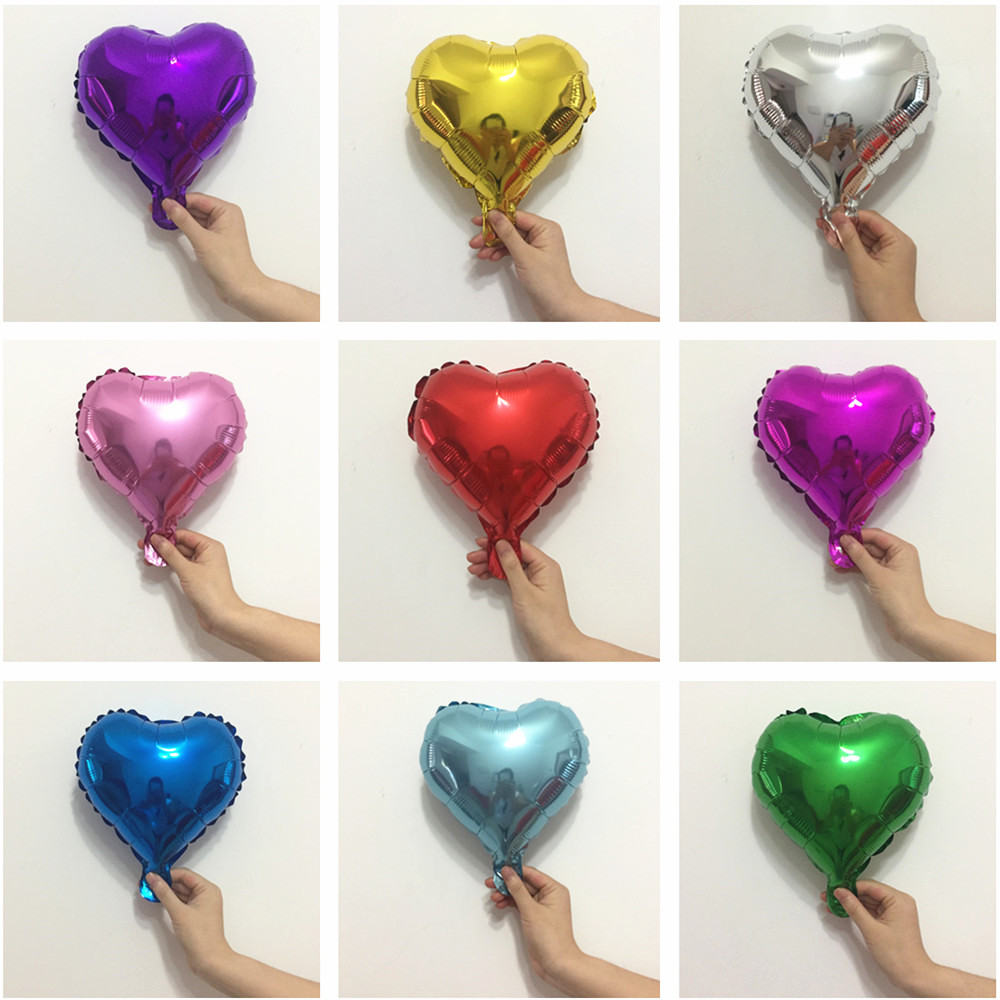 10inch Star Foil Air Balloons Heart Balloon Wedding Decorations Happy Birthday Party Decorations Adult Kids Baby Shower Baloon